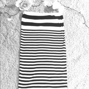 Black and white tube top dress # A 23